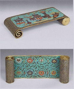 Fig. 1 Cloisonné enamel armrest, Pierre Mercier collection