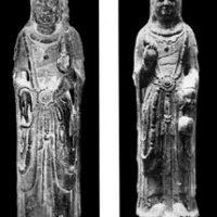 Limestone sculptures of Bodhisattva