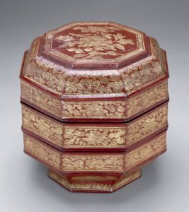 Fig. 1 Octagonal box with qiangjin decoration, the Arthur M. Sackler Gallery