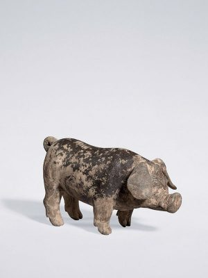 Pottery model of a pig