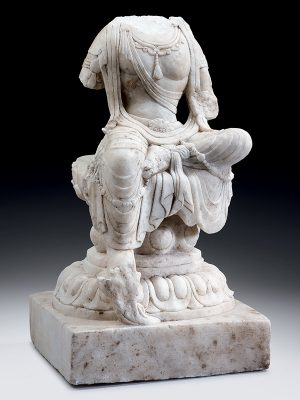 Marble sculpture of the body of a Bodhisattva