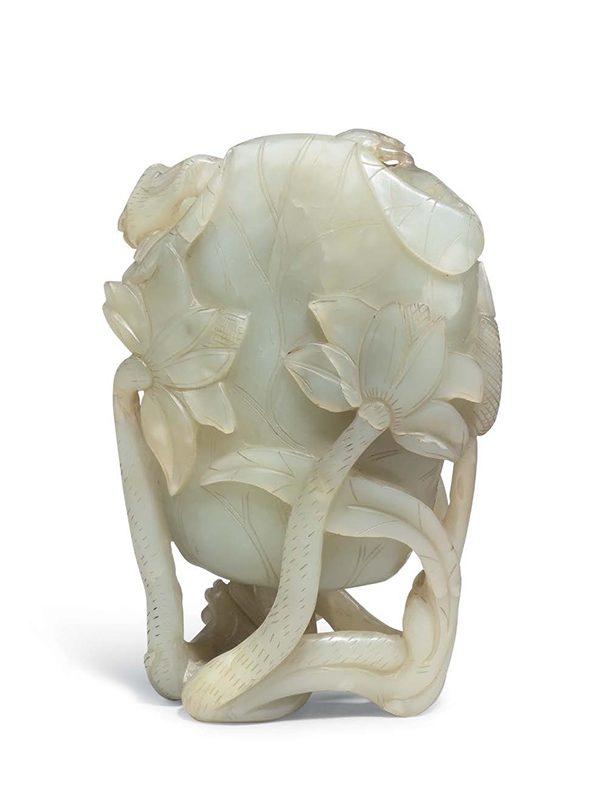 Jade lotus vase