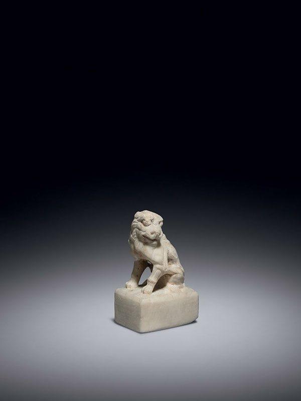 White marble lion