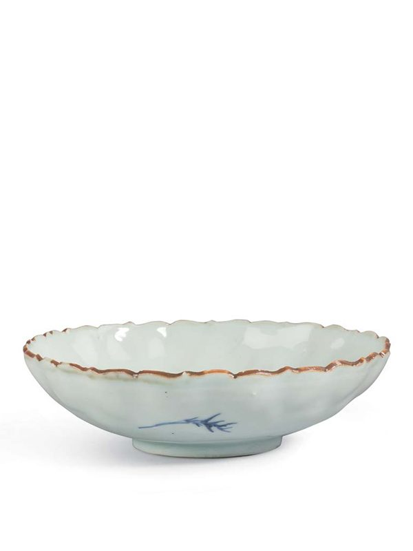 Blue-and-white porcelain dish