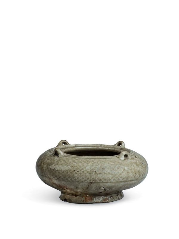 Yue stoneware water pot with loop handles