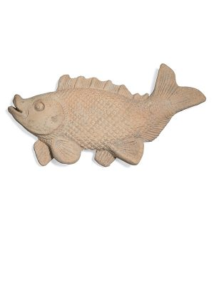 Stoneware fish plaque