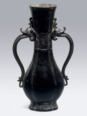 Bronze two-handled vase