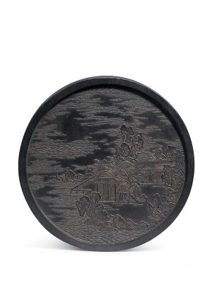 Ink cake of circular form