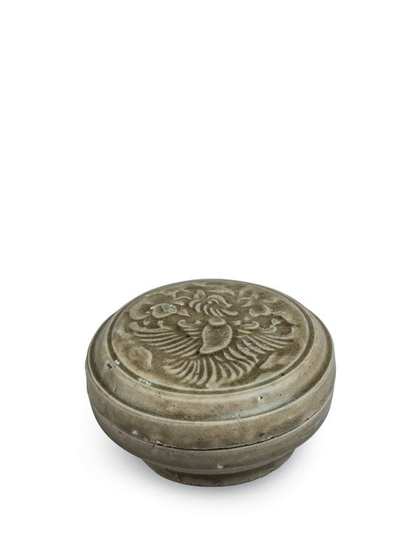 Yue stoneware box with a phoenix