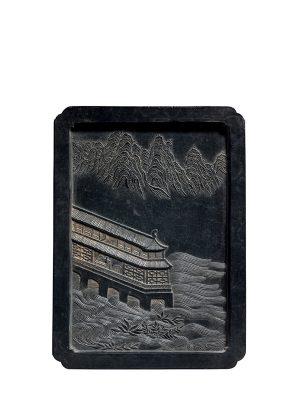 Ink tablet of rectangular form