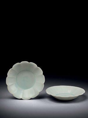 Two Qingbai porcelain saucers