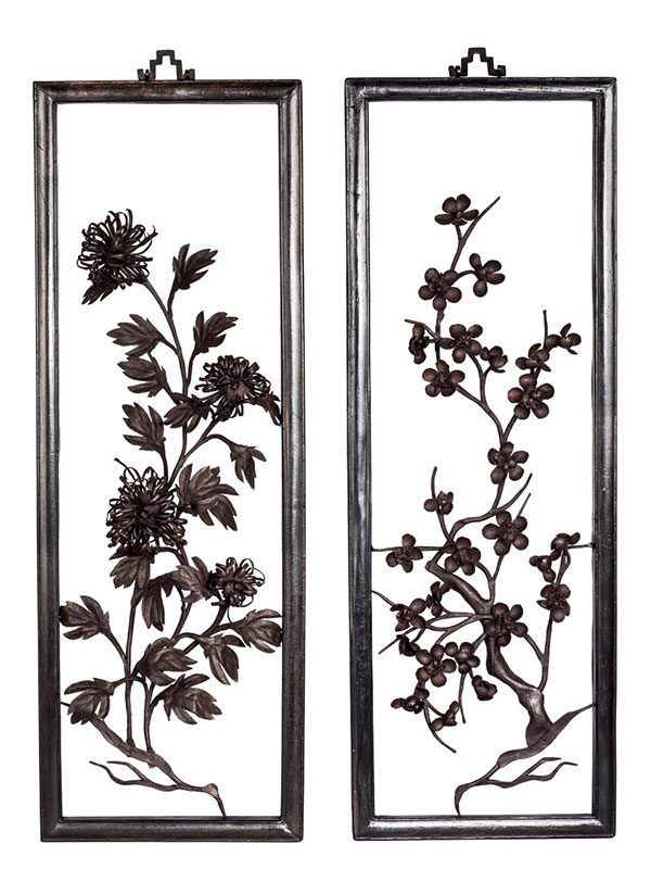 Three iron paintings, tiehua