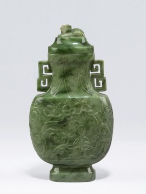Jade vase and cover