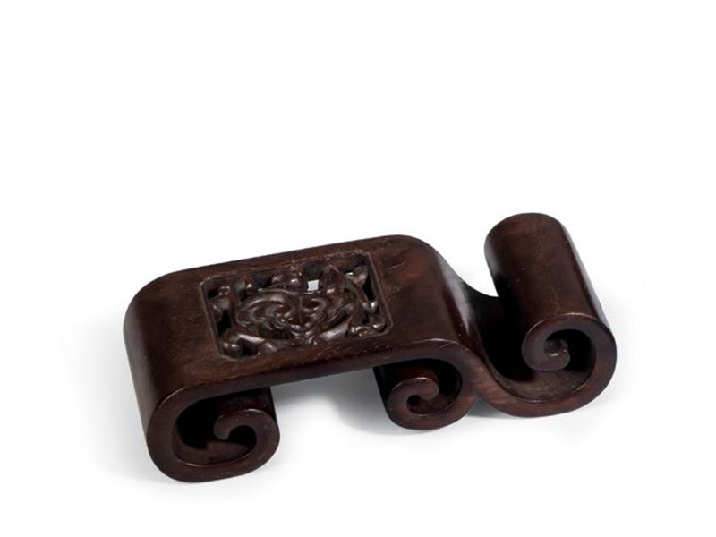 Four zitan ink stick rests
