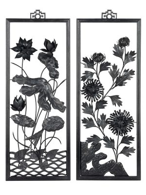 "Set of four iron ""paintings"", tiehua"