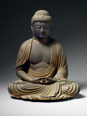 Wood sculpture of the Buddha, Amida Nyorai