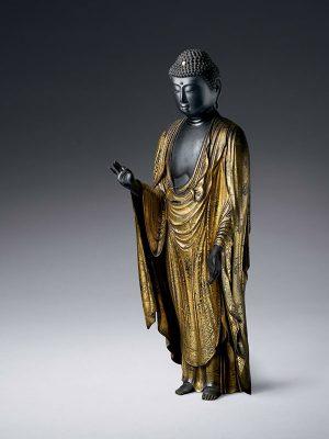 Wood sculpture of the Buddha (Amida Nyorai)