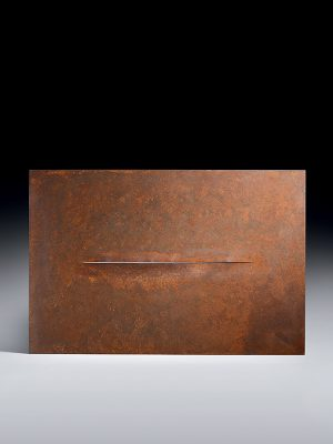 Steel abstract wall panel by Goto Morihiro