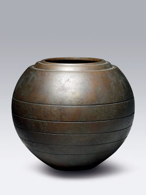 Bronze flower vase by Toyoda Katsuaki