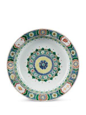 Famille verte porcelain basin