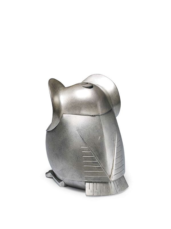 Silver owl incense burner by Katori Masahiko