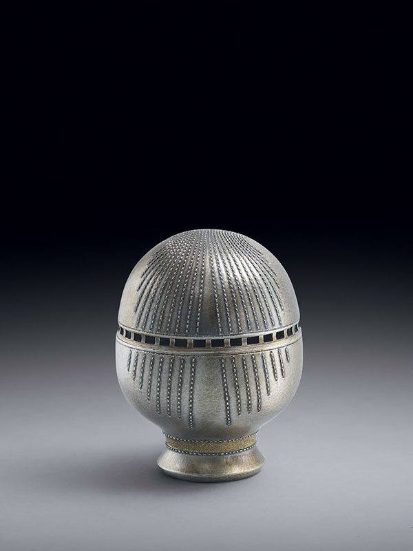 Silver-gilt incense burner, by Keisuke