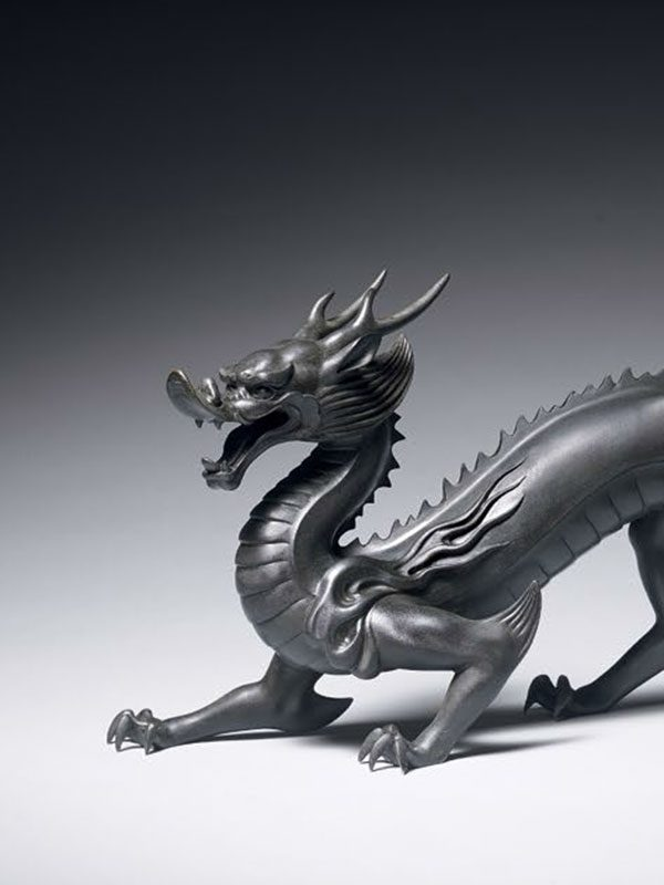 Bronze model of a dragon, by Shinobu Tsuda