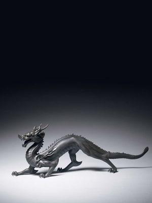 Bronze model of a dragon, by Shinobu Tsuda