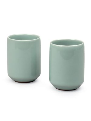 Two celadon porcelain cups