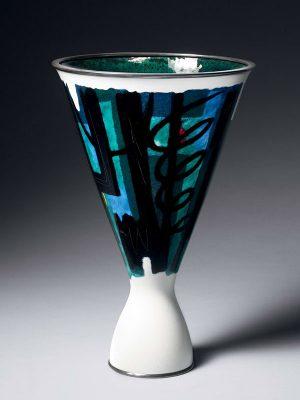 Cloisonné enamel vase, by Ota Hiroaki