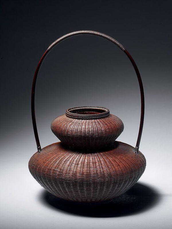 Bamboo ikebana basket by Chikuunsai II