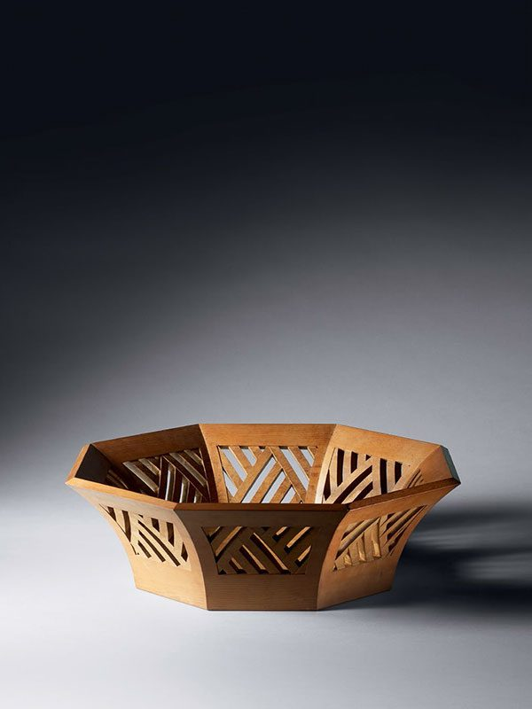 Yew wood basket