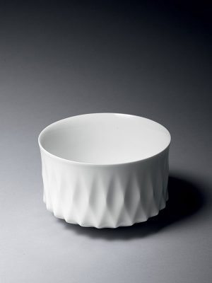 White porcelain bowl by Yoshinoro Ohno