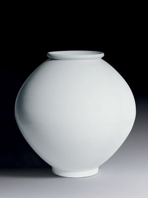 Porcelain 'moon' jar