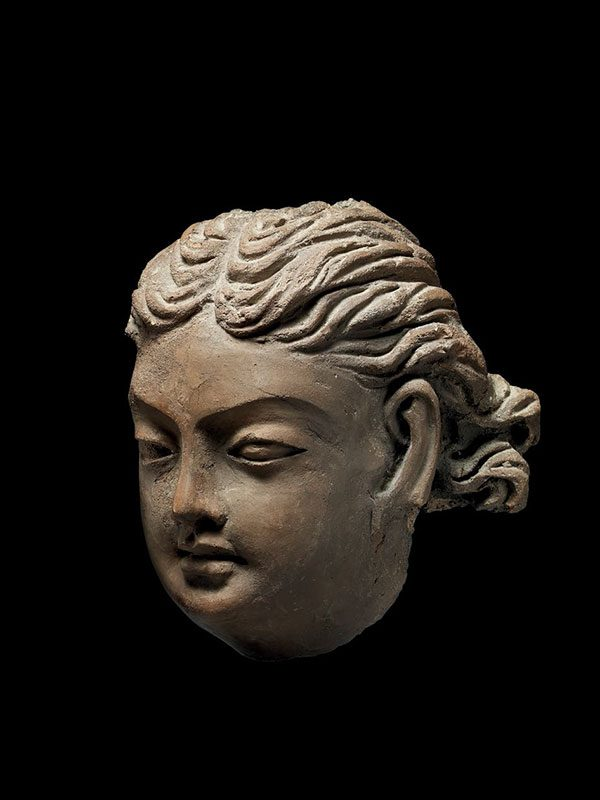 Terracotta head of a Western man