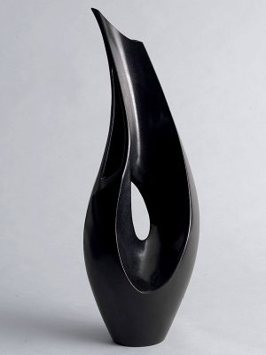 Bronze vase of tear-drop shape