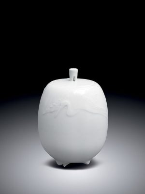 White porcelain incense burner by Ito Kei
