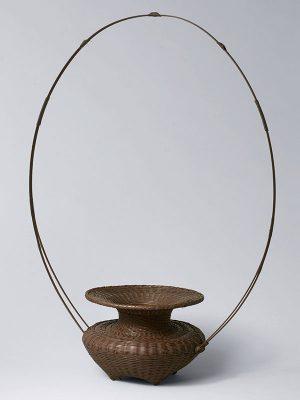 Bamboo ikebana basket by Yamaguchi Ryuun