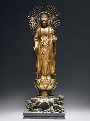 Wood sculpture of the Buddha Amida Nyorai