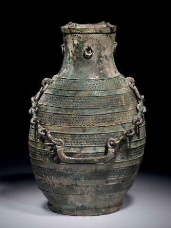 Bronze ritual wine vessel <em>hu</em>