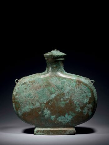 Bronze wine vessel <em>bian hu</em>