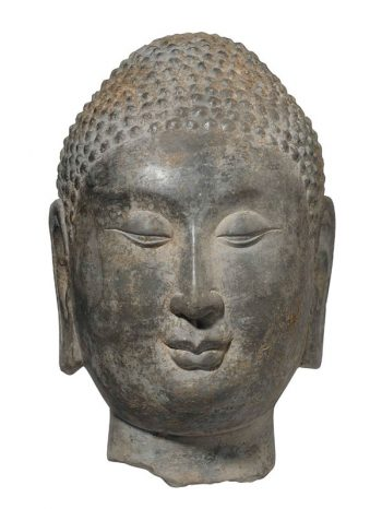 Limestone head of the Buddha