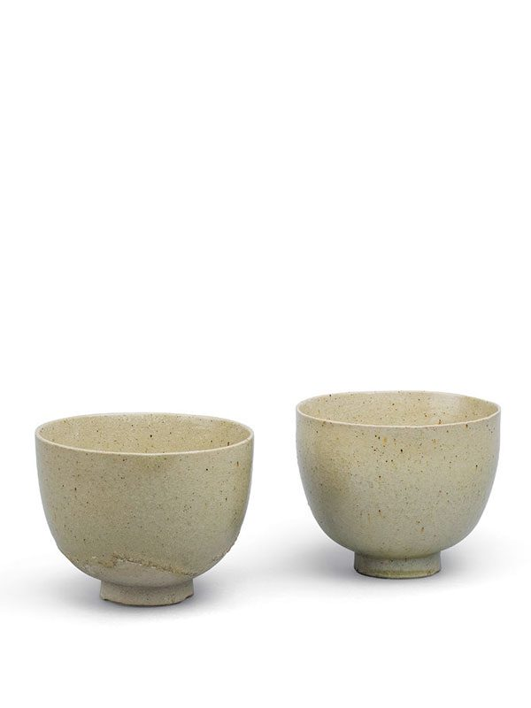 Two stoneware cups