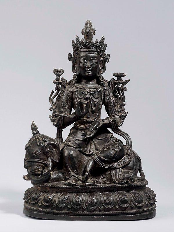 Bronze figure of Samantabhadra