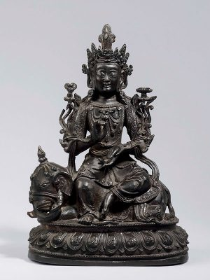 Bronze figure of Samantabhadra