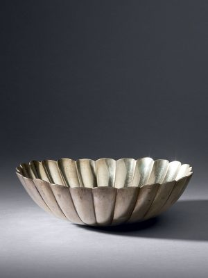 Silver lobed bowl