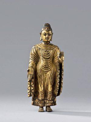 Giltbronze <em>Udhyana</em> Buddha