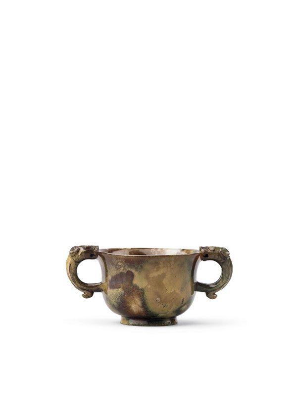 Burnt jade cup