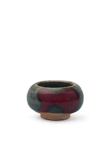 Miniature jun stoneware bowl
