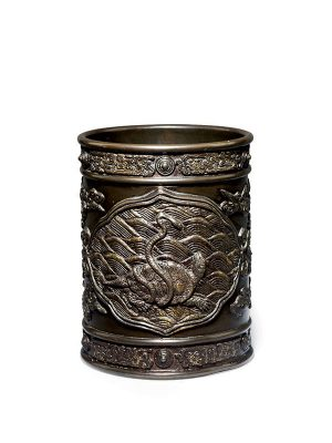 Bronze brush pot